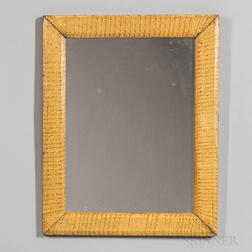 Mirror with Faux Tiger Maple Painted Frame