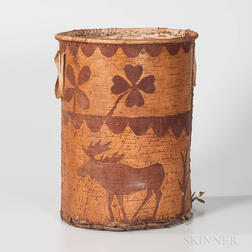 Northeast Birch Bark Pictorial Container