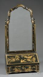 Queen Anne Japanned Dressing Mirror/Secretary