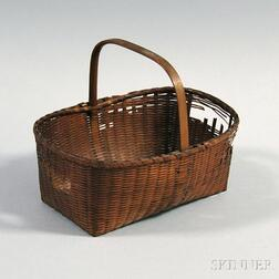 Shaker Small Fancy Woven Splint Basket