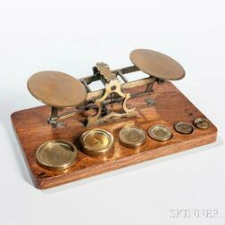 Small Brass Balance Scale