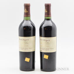 Beringer Bancroft Ranch Merlot Private Reserve 1991, 2 bottles