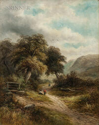 George Henry Clements (American, 1854-1935)      Lane at Aber, N. Wales