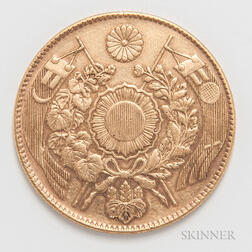 Meiji Year 4 (1871) 10 Yen Gold Coin