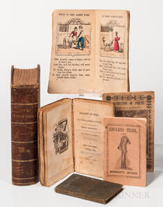 American Books and Pamphlets, Seven 19th Century Examples, One Early 20th Century.