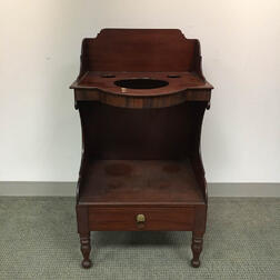 Classical Carved Mahogany One-drawer Washstand