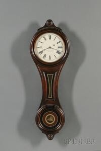 E. Howard Walnut No. 9 Figure Eight Wall Clock