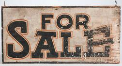 "Painted ""FOR SALE"" Sign"