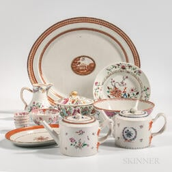 Thirteen Export Porcelain Table Items