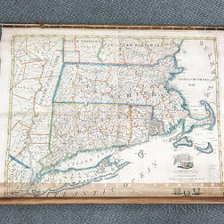 Edward Ruggles Wall Map of New England