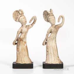 Two Tomb Pottery Figures