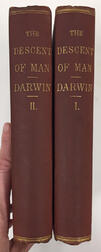 Darwin, Charles (1809-1882) The Descent of Man and Selection in Relation to Sex  , First American Edition.