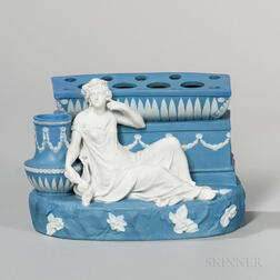 Wedgwood Solid Blue Jasper Figural Bough Pot
