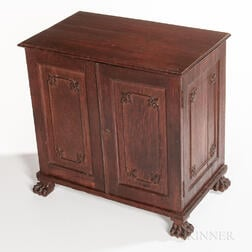 Chinese Export Oak Cabinet
