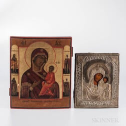 Two Madonna and Child Icons