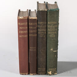 Science and Medicine, Four Volumes by Hermann von Helmholtz (1821-1894) and Moritz Heinrich Romberg (1795-1873).