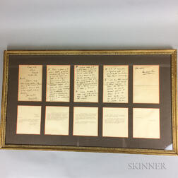 Framed Group of Letters from Havelock Ellis