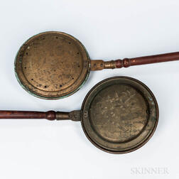 Two Brass Bed Warmers