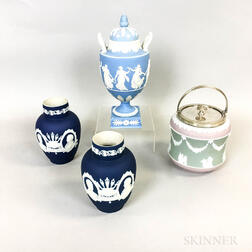 Four Pieces of Wedgwood and Adams Jasperware