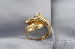 18kt Gold Horse Ring, France