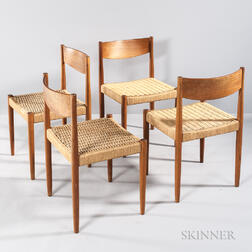 Four Poul Volther Dining Chairs