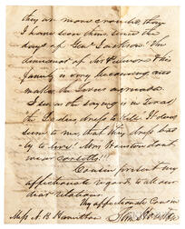 Houston, Sam (1793-1863) Autograph Letter Signed, 8 January 1850.