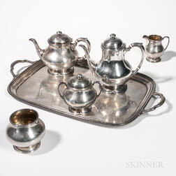 Five-piece Frank Smith Sterling Silver Tea and Coffee Service