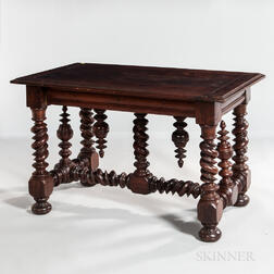 Baroque-style Oak Center Table