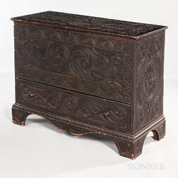 Renaissance Revival Carved Pine Chest