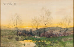Charles Partridge Adams (American, 1858-1942)    Sunset over the Hills