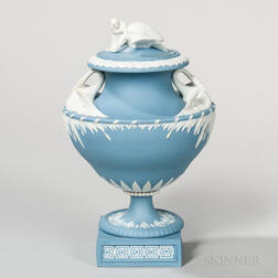 Wedgwood Solid Blue Jasper Leda and the Swan Vase