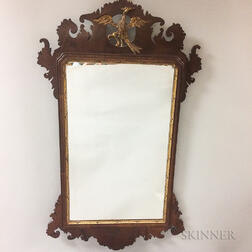 Chippendale-style Carved and Parcel-gilt Scroll-frame Mirror
