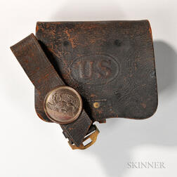 U.S. Leather Cartridge Box