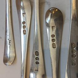 Group of George III Sterling Silver Flatware