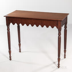 Country Hall Table with Drawer
