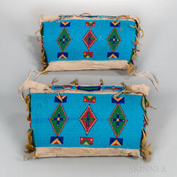 Pair of Plains Beaded Possible Bags