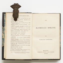 Hawthorne, Nathaniel (1804-1864) The Blithedale Romance,   First Edition, with Clipped Signature.