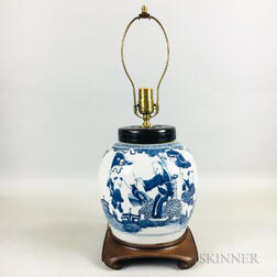 Blue and White Ginger Jar Lamp