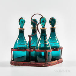 Decanter Set with Tole Carrier