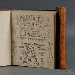 Private Journals of E.P. Stoddard 1852-1854.