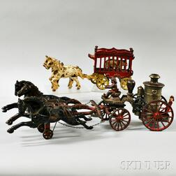Two Polychrome Cast Iron Toys