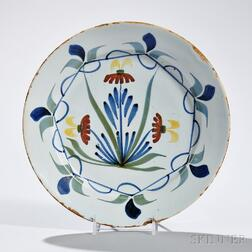 Tin-glazed Earthenware Lily Plate