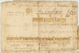 Continental Army Line of Battle for West Point, New York, Owned by Major Moses Ashley, 2nd Massachusetts Battalion