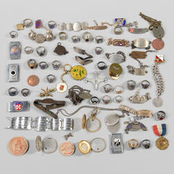 Group of Military Rings and Identification Bracelets