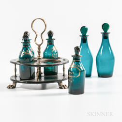 Cruet Set with Bottle and Tray