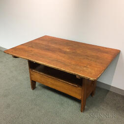 Country Pine Hutch Table