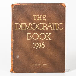Roosevelt, Franklin Delano (1882-1945) The Democratic Book, 1936  , Signed.