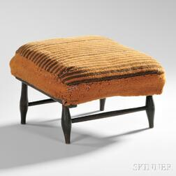 Shaker Upholstered Basswood and Maple Production Footstool