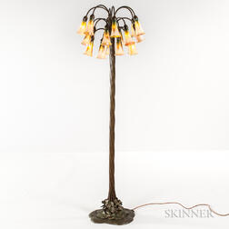 Buffalo Metalworks and Lundberg Studios Eighteen-light Lily Lamp