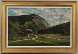 Frank Henry Shapleigh (New Hampshire, 1842-1906)      The Crawford Notch, White Mountains